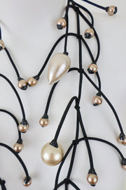 Annemieke Broenink Gigantic Pearl Necklace Light Champagne