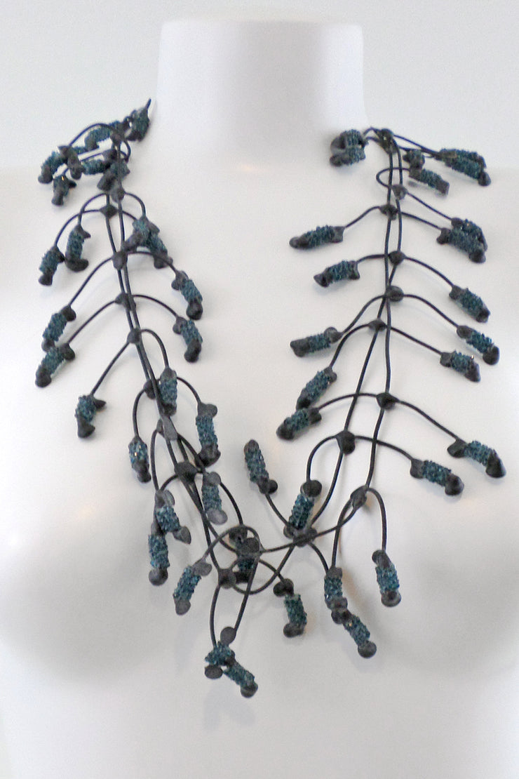 Annemieke Broenink Glitter Pop Necklace Indigo