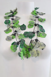 Annemieke Broenink Lace Necklace Acid Green
