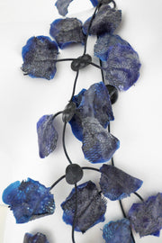 Annemieke Broenink Lace Necklace Blue Ink