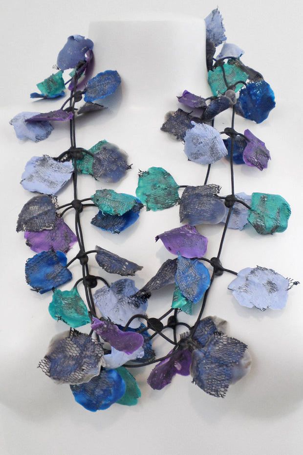 Annemieke Broenink Lace Necklace Blue Mix