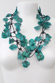 Annemieke Broenink Lace Necklace Summer Turquoise