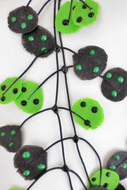 Annemieke Broenink Ladybug Necklace Acid Green