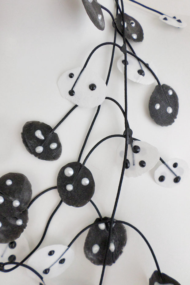 Annemieke Broenink Ladybug Necklace White/Black