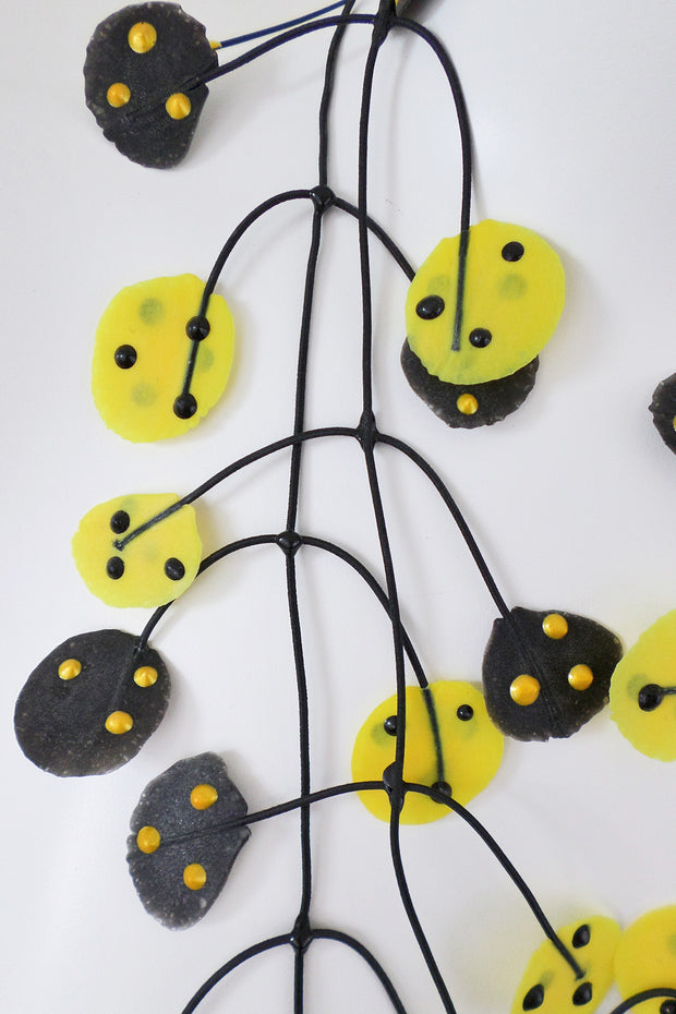 Annemieke Broenink Ladybug Necklace Yellow