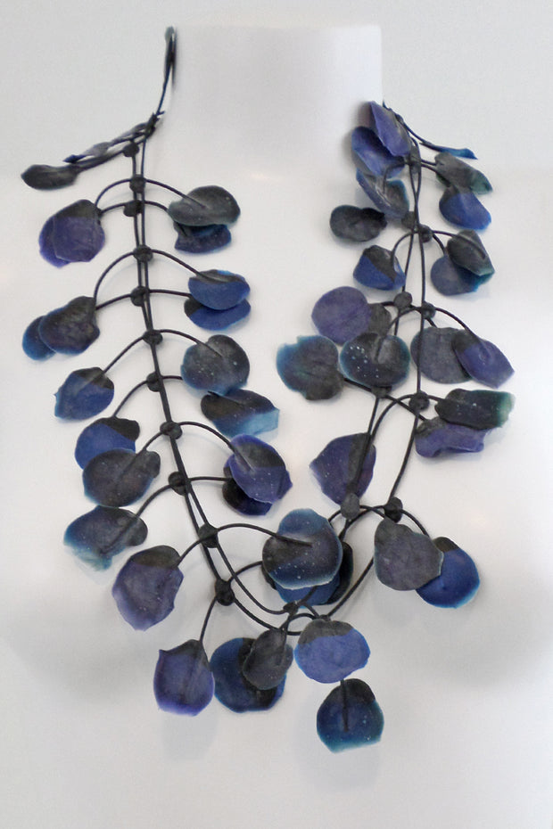 Annemieke Broenink Poppy Necklace Blue Ink
