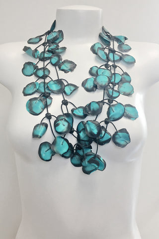 Annemieke Broenink Poppy Necklace Summer Turquoise/Black