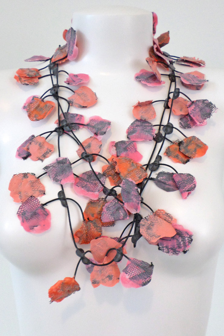 Annemieke Broenink Lace Necklace Salmon