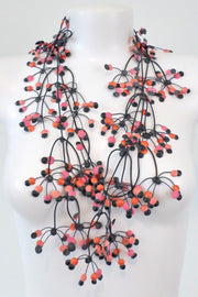 Annemieke Broenink Multi Dot Necklace Salmon