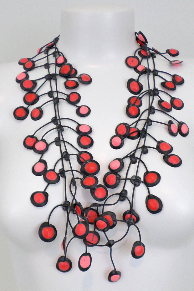 Annemieke Broenink Dubbel Pop Dot Necklace Watermelon