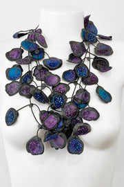 Annemieke Broenink Batiq Necklace Purple Blue