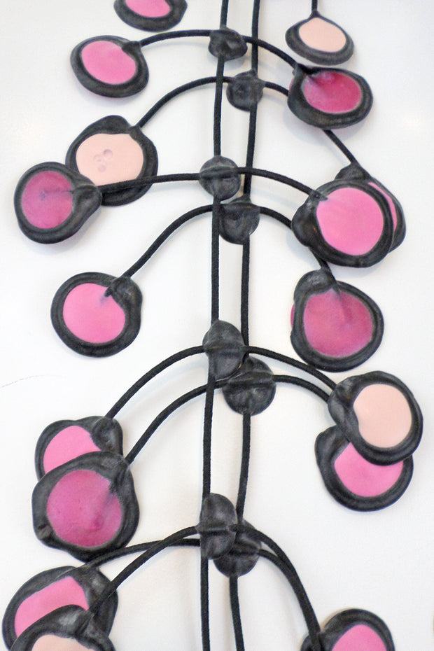 Annemieke Broenink Dubbel Pop Dot Necklace Winter Pink
