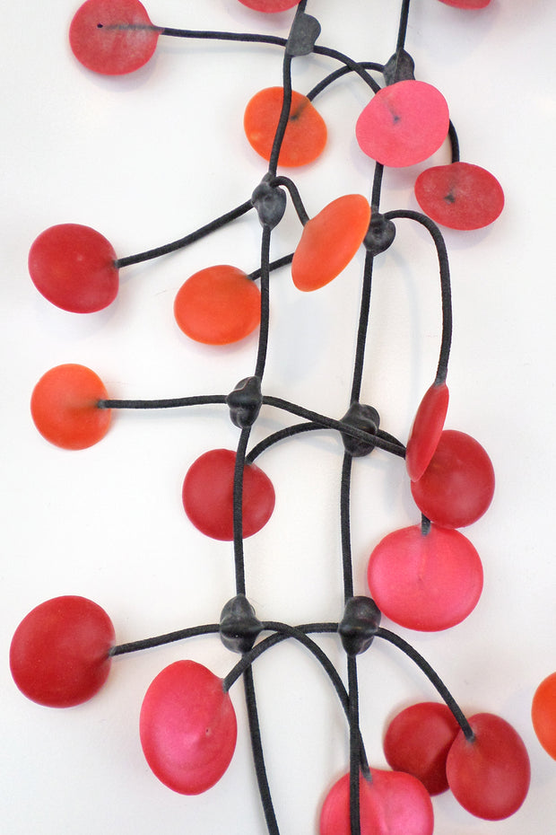 Annemieke Broenink Pop Dot Necklace Red Orange/Pink