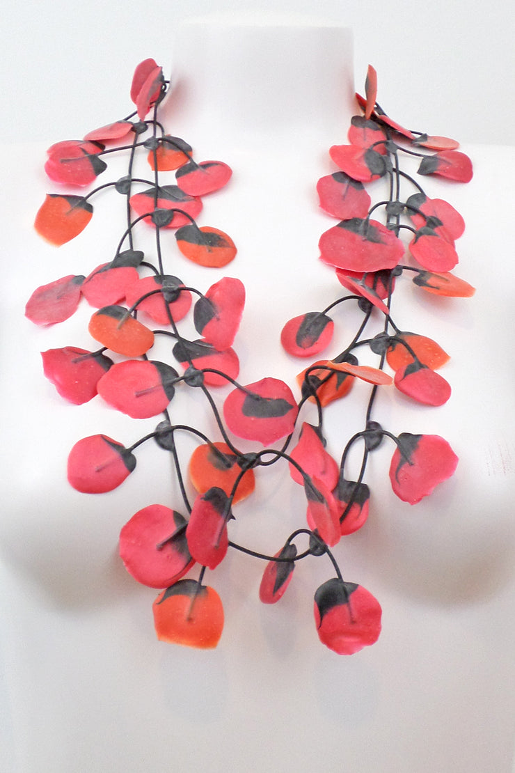 Annemieke Broenink Poppy Necklace Red Orange/Pink