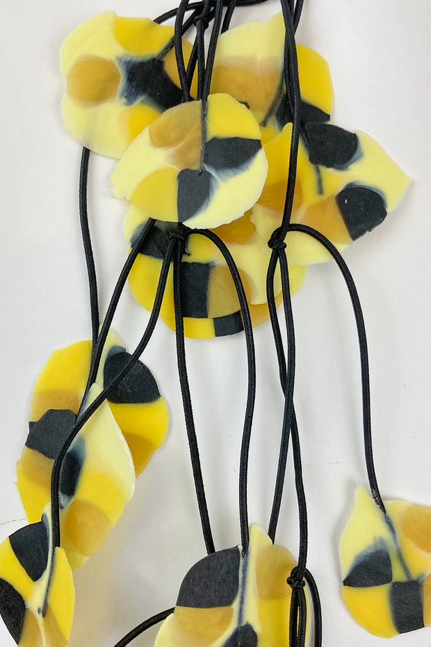 Annemieke Broenink Recycled Poppy Necklace Bright Yellow