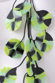 Annemieke Broenink Recycled Poppy Necklace Avocado
