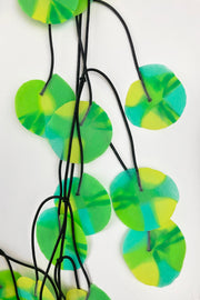 Annemieke Broenink Recycled Poppy Necklace Green/Turquoise/Yellow