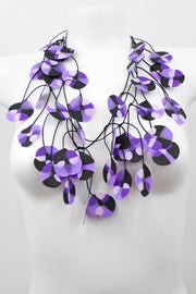 Annemieke Broenink Recycled Poppy Necklace Violet