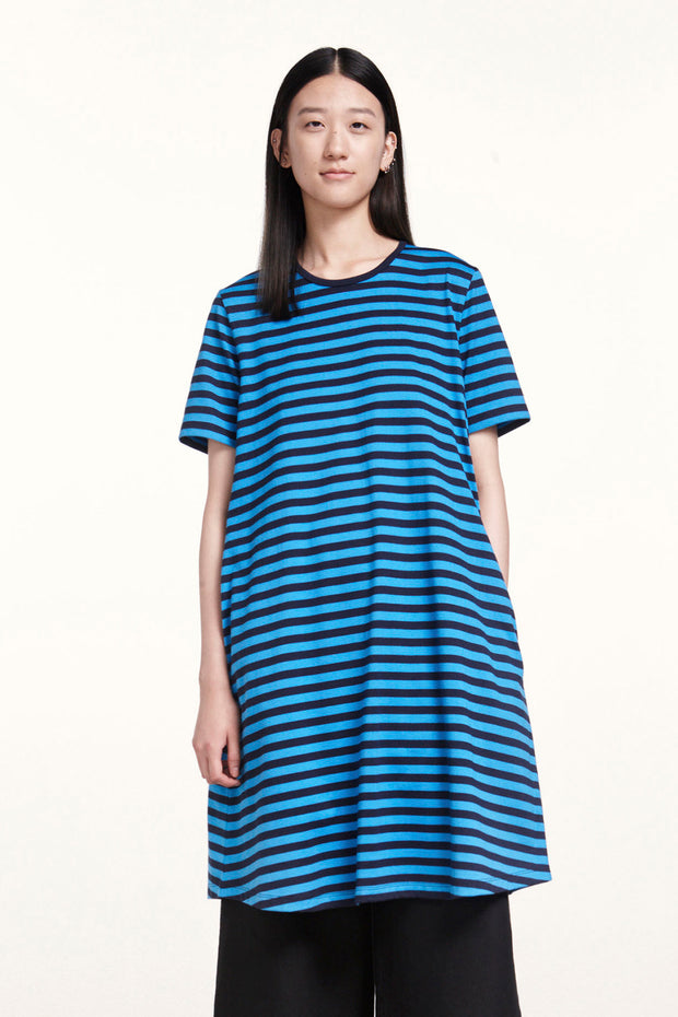 Marimekko Aretta Short Sleeve Dress Dark Blue/Blue