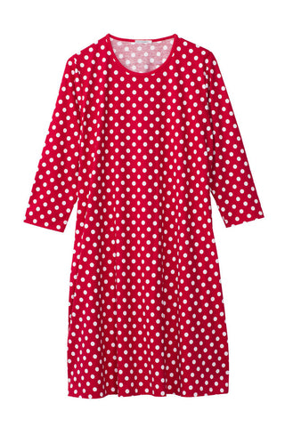 Marimekko Aretta Pallo Dress Red/White