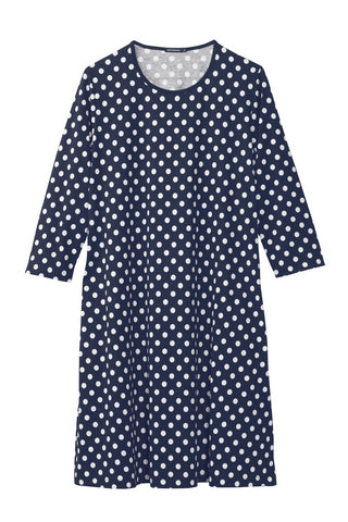 Marimekko Aretta Pallo Dress Navy/White