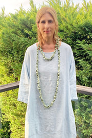 Frank Ideas Chaotic Necklace Wide Spring Green