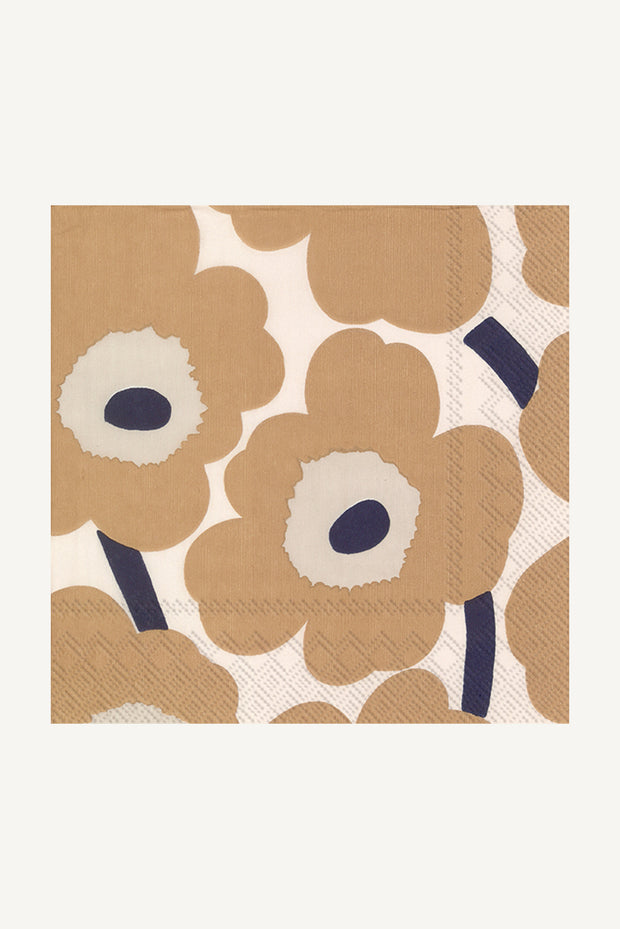 Marimekko Unikko Cocktail Napkins Cream/Linen