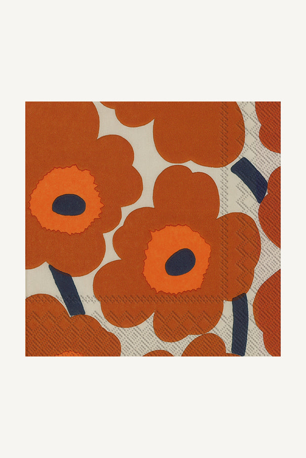 Marimekko Unikko Cocktail Napkins Terracotta