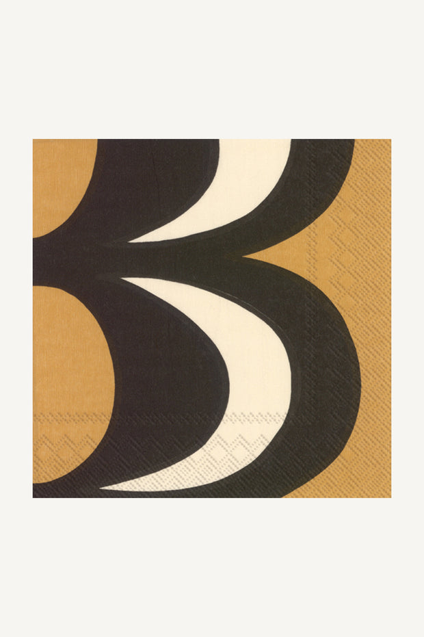 Marimekko Kaivo Cocktail Napkins Black/Cream