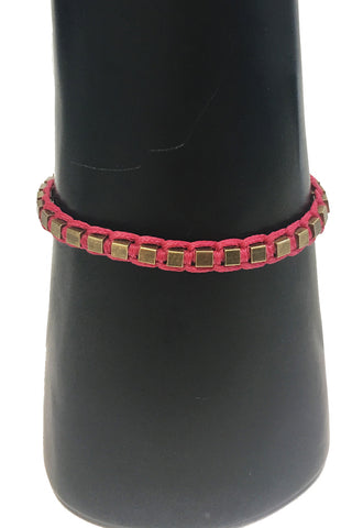 Mandy Campio Blocks Bracelet Cranberry