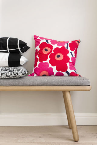 "Marimekko Pieni Unikko 20"" Pillow Cover Red/Pink/White"