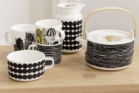 Marimekko Rasymatto Tea Cup Black/White