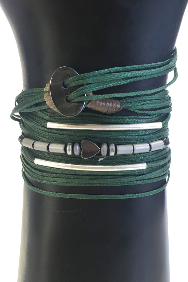 Mandy Campio Loop Wrap Bracelet Forest