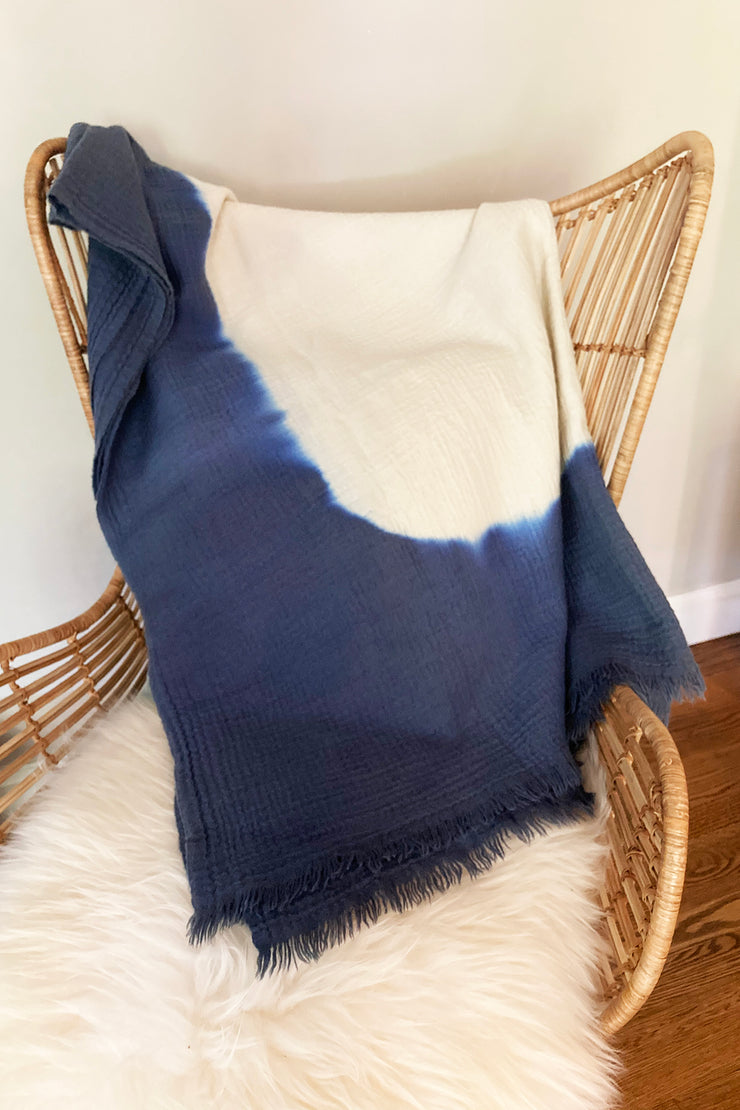 Nest Factory Ombre Throw Indigo