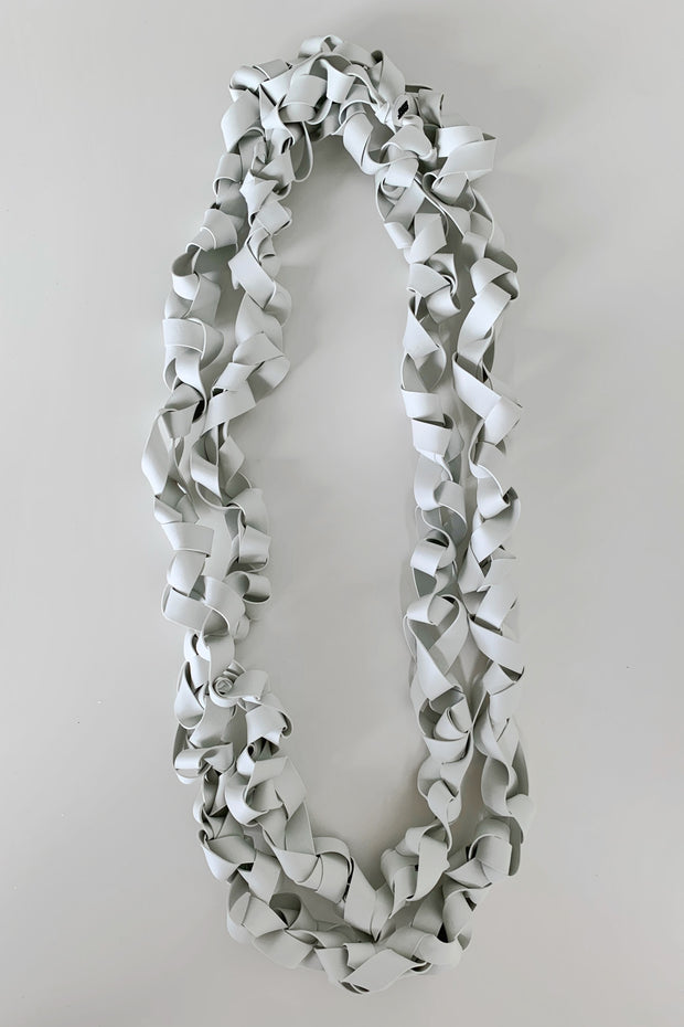 Frank Ideas Chaotic Necklace Wide Light Grey