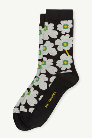 Marimekko Hieta Socks Black/White/Green