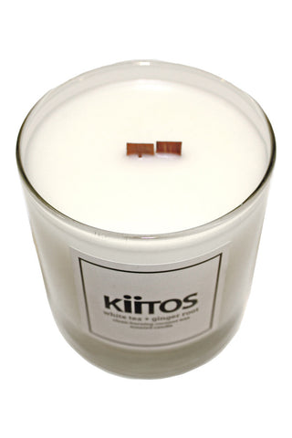 Kiitos White Tea + Ginger Root Scented Candle