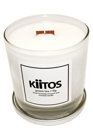 Kiitos Green Tea + Fig Scented Candle