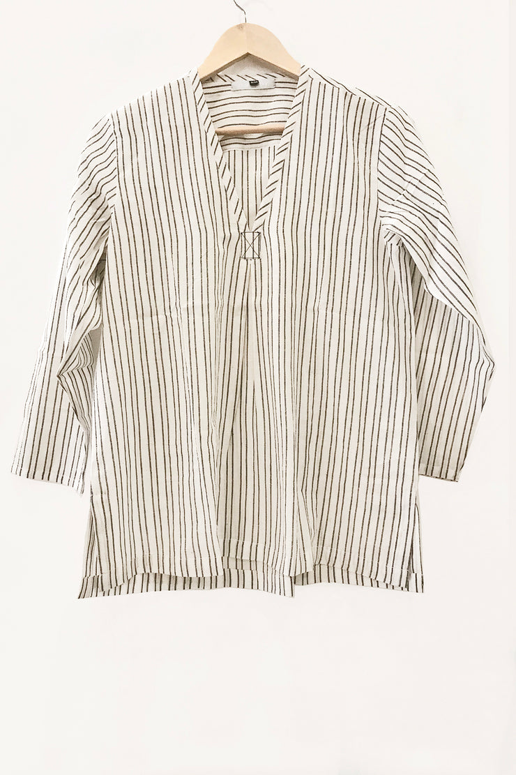 Nest Factory V-Neck Striped Blouse