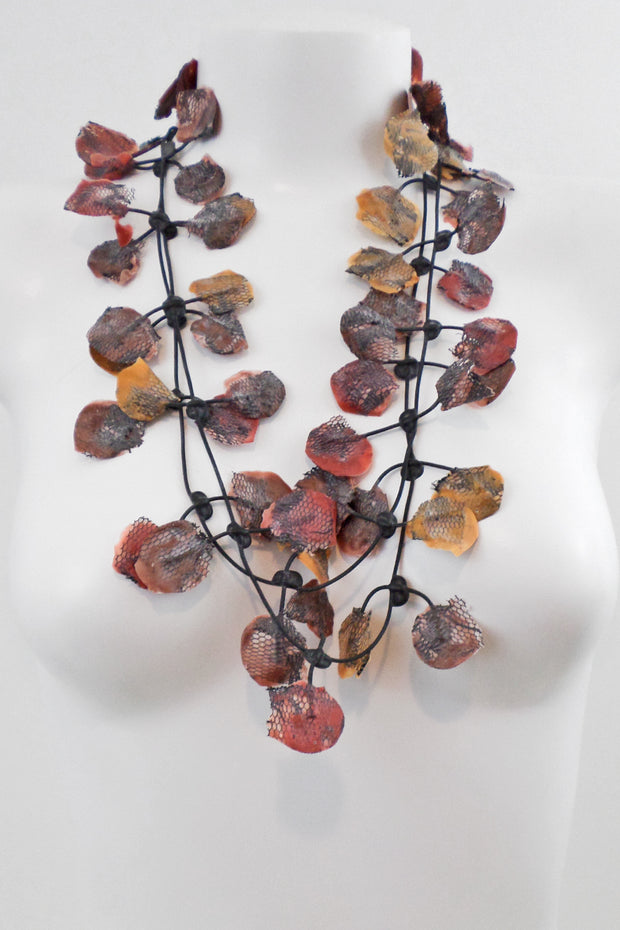 Annemieke Broenink Lace Necklace Autumn Leaves