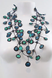 Annemieke Broenink Dubbel Pop Dot Necklace Turquoise Mix