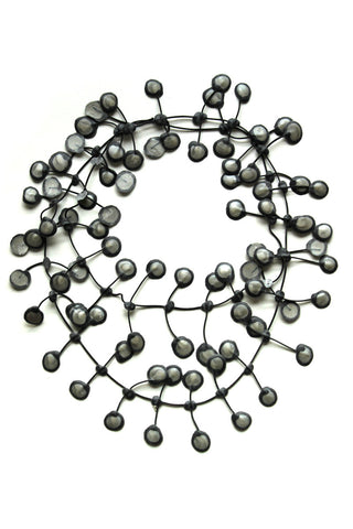 Annemieke Broenink Dubbel Pop Dot Necklace Silver