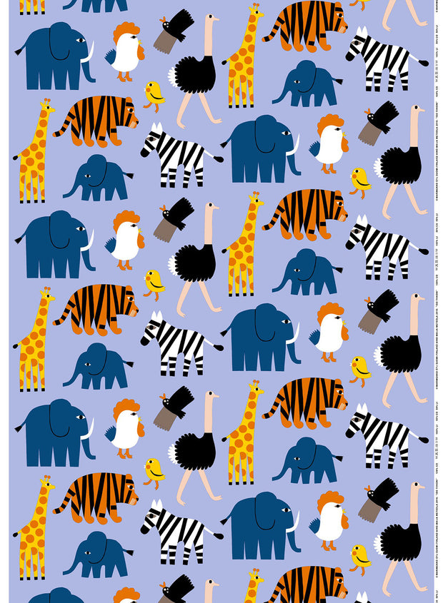 Marimekko Marimekko Iso Tiikoni Fabric Blue/Orange/Yellow - KIITOSlife - 1