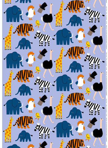 Marimekko Iso Tiikoni Fabric Blue/Orange/Yellow