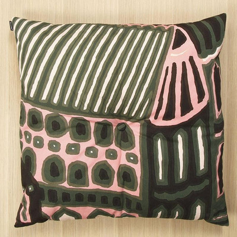 "Marimekko Kumiseva 25.5"" Floor Cushion Dark Green/Powder"