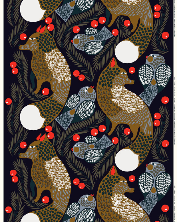 Marimekko Ketunmarja Cotton Fabric by the Yard