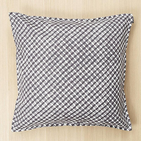 "Marimekko Kopeekka 20"" Pillow Cover Ecru/Dark Grey"