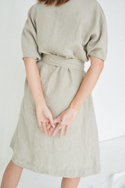 Rush Dress Natural Grey