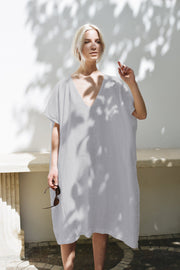 Amalfi Dress Ice Grey