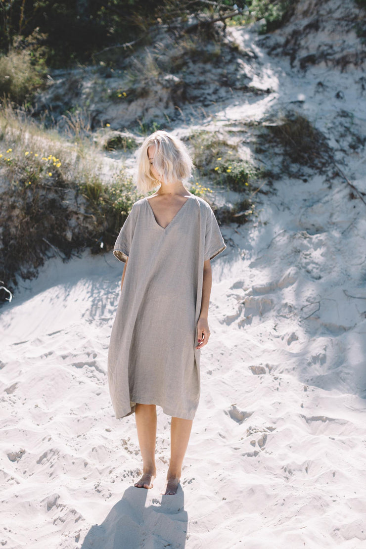Amalfi Dress Natural Grey